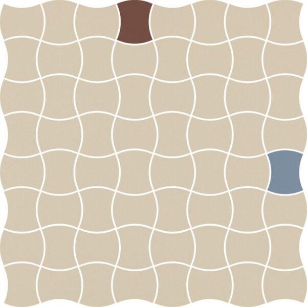 Dlažba Modernizm Bianco mix A 30,86×30,86