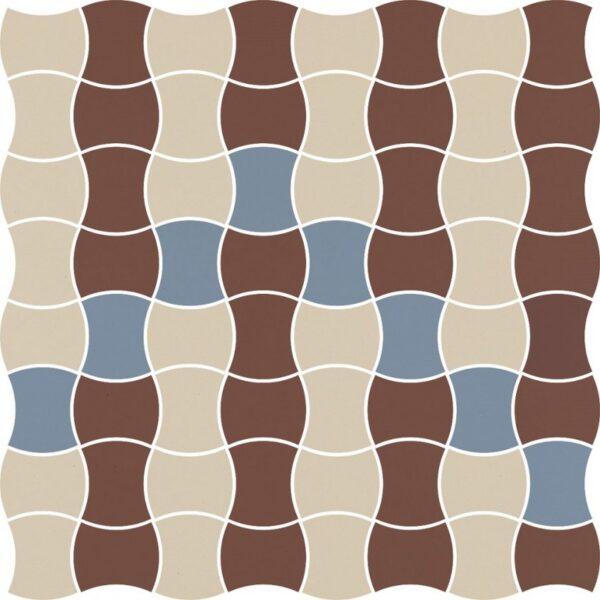Dlažba Modernizm Bianco mozaika mix B 30,86×30,86