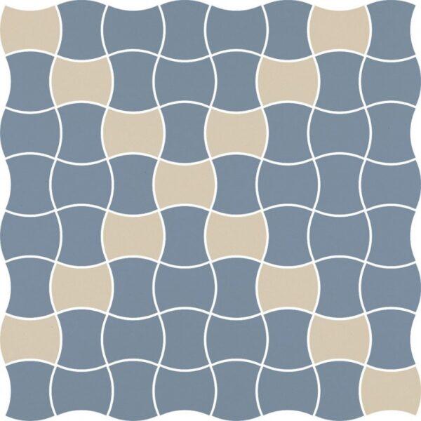 Dlažba Modernizm Blue mozaika mix 30,86×30,86