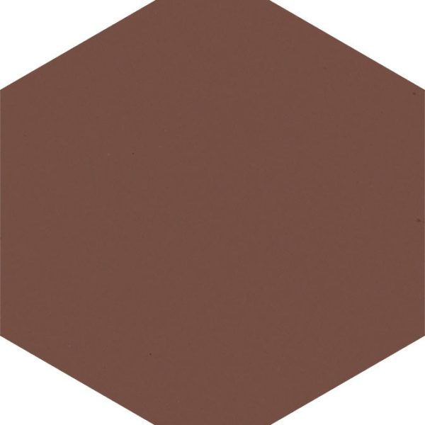 Dlažba Modernizm Brown hexagon 19,8×17,1