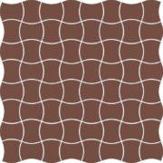 Dlažba Modernizm Brown mozaika 30,86×30,86