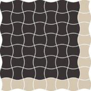 Dlažba Modernizm Nero mozaika Mix A 30,86×30,86