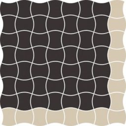 Dlažba Modernizm Nero mozaika Mix A 30,86x30,86