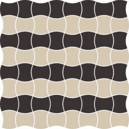 Dlažba Modernizm Nero mozaika mix B 30,86x30,86