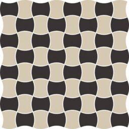 Dlažba Modernizm Nero mozaika mix C 30,86x30,86