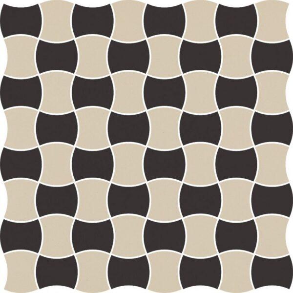 Dlažba Modernizm Nero mozaika mix C 30,86×30,86