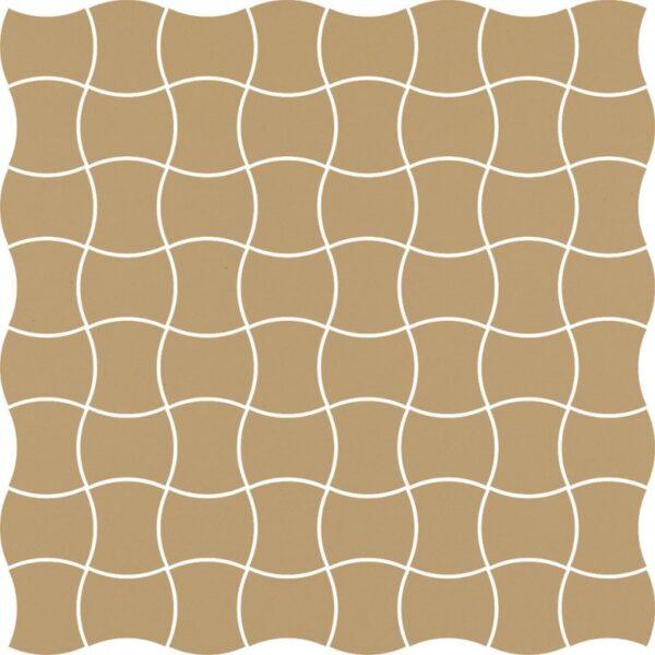 Dlažba Modernizm Ochra mozaika 30,86×30,86