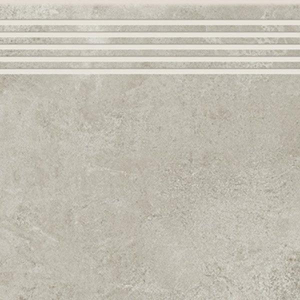 Dlažba Quenos light grey schodovka 30×60