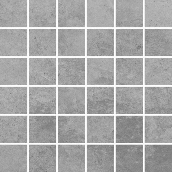 Dlažba Tacoma Silver rekt. mat. Mozaika 30×30