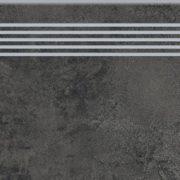 Dlažba quenos graphite schodovka 30×120