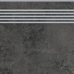 Dlažba quenos graphite schodovka 30x120