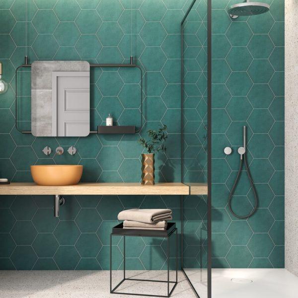 Hexagon dlažba Mayfair koupelna2