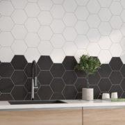 Hexagon dlažba Mayfair kuchyně1