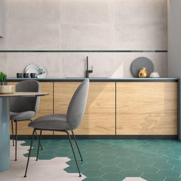 Hexagon dlažba Mayfair kuchyně2
