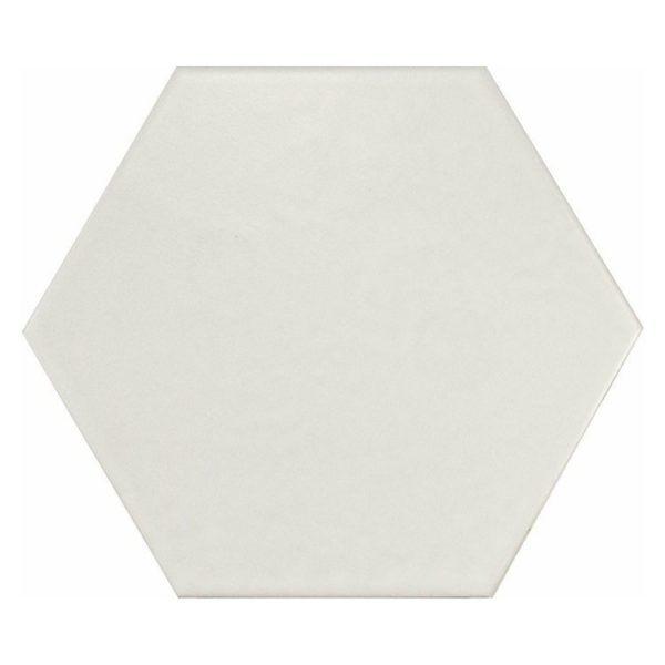 Hexatile Blanco mate 17,5×20