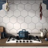 Hexatile Blanco mate kuchyně