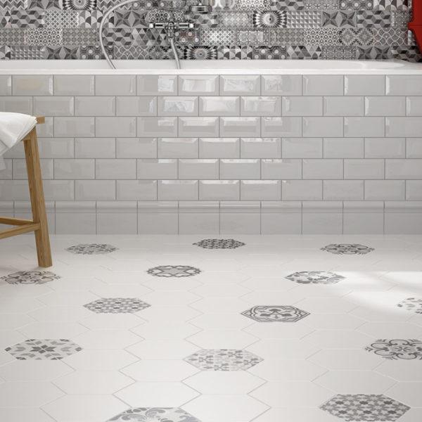 Hexatile Harmony B&W 17,5×20 koupelna