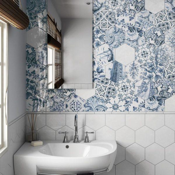 Hexatile Lisboa Brillo koupelna