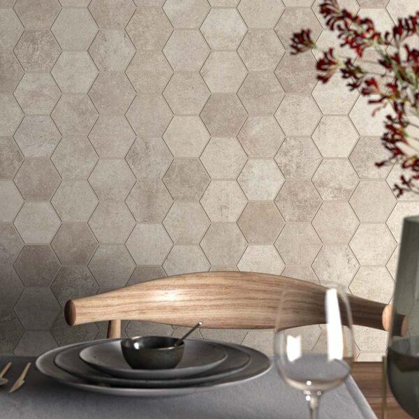 Kolekce Heritage Sand hexagon kuchyně