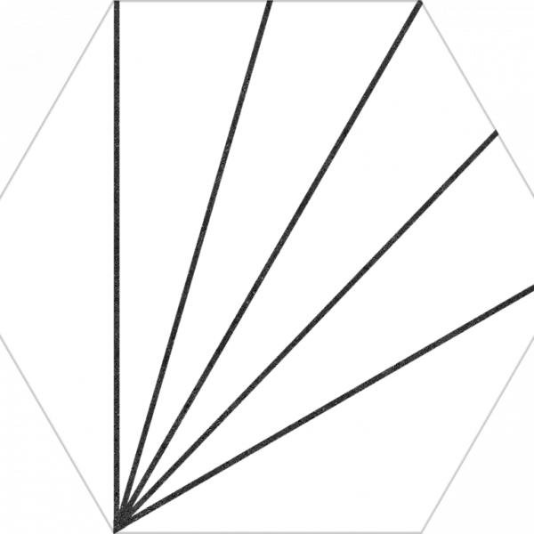 Dlažba Aster Blanco 22×25