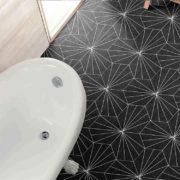 Dlažba Aster Nero koupelna