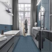 Dlažba Hexa Ocean Wave koupelna