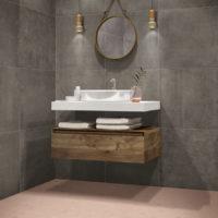Dlažba Hexa Rosy Blush koupelna