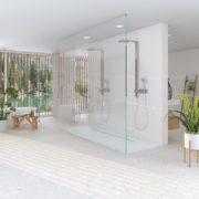 Dlažba Stracciatella 20×20 terrazzo koupelna
