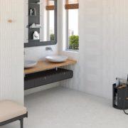 Dlažba Stracciatella 20×20 terrazzo koupelna_2