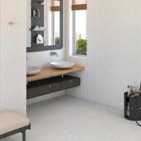 Dlažba Stracciatella 20x20 terrazzo koupelna_2