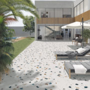 Dlažba Stracciatella R Nacar 80×80 terrazzo na terase
