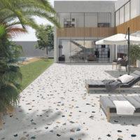 Dlažba Stracciatella R Nacar 80x80 terrazzo na terase