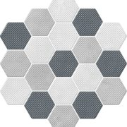Dlažba Trail Mix dekor hexagon 21,3×23,1