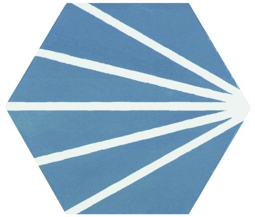 Hexagon Meraki Azul 19,8×22,8