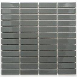 Mozaika Brick glazovaná tmavě šedá lesk B06R 6786