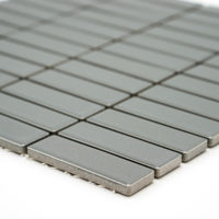 Mozaika Brick glazovaná tmavě šedá lesk B06R 6786_2