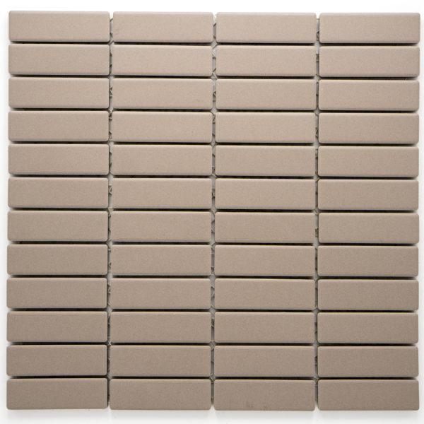 Mozaika Brick neglazovaná světle šedá mat B06R GI 7002