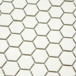 Mozaika Hexagon H HX 25 bílá 2,3x2,6 lesk