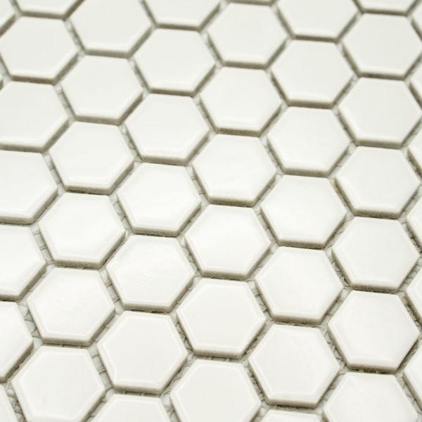 Mozaika Hexagon H HX 250 bílá 2,3×2,6 mat
