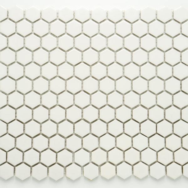 Mozaika Hexagon H HX 250 bílá 2,3×2,6 mat_3