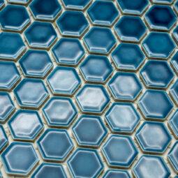 Mozaika Hexagon H HX 5437 tyrkysová 2,3x2,6 lesk_1