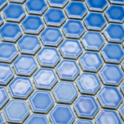 Mozaika Hexagon H HX 6471 modrá 2,3x2,6 lesk_1