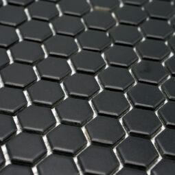 Mozaika Hexagon H HX 890 černá 2,3x2,6 mat