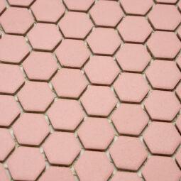 Mozaika Hexagon H HXA 22 růžová 2,3x2,6 mat protiskluz