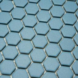 Mozaika Hexagon H HXA 23 modrá 2,3x2,6 mat protiskluz_1
