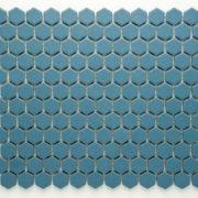 Mozaika Hexagon H HXA 23 modrá 2,3×2,6 mat protiskluz_3