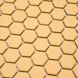 Mozaika Hexagon H HXA 27 žlutá 2,3x2,6 mat protiskluz_1