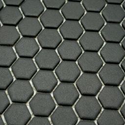 Mozaika Hexagon H HXA 29 černá 2,3x2,6 mat protiskluz_1
