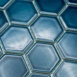 Mozaika Hexagon H HXL 5437 tyrkysová 5,1x5,9 lesk_2
