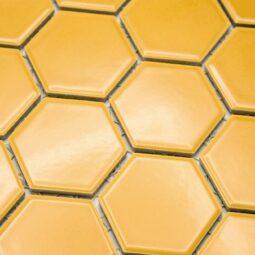 Keramická glazovaná mozaika hexagon žlutá_2